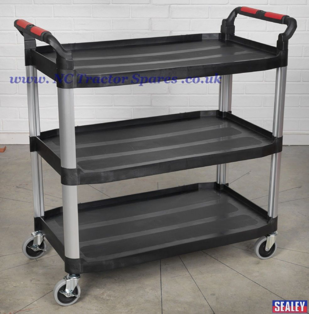3-Level Composite Workshop Trolley.